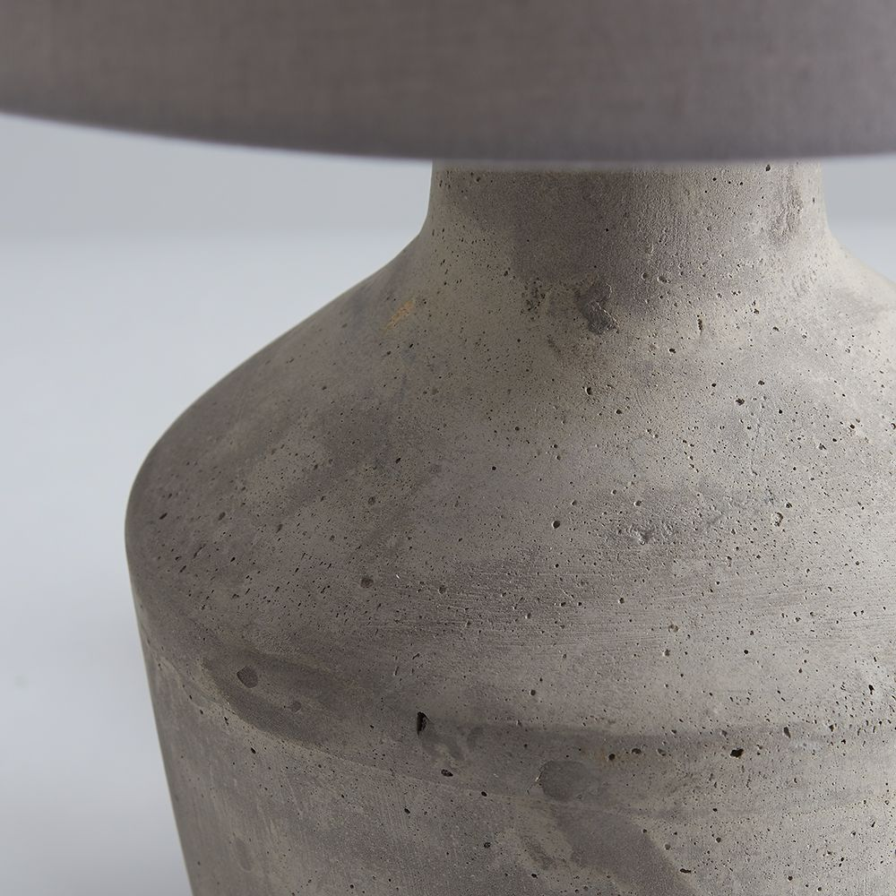 Abbesses Concrete Table Lamp And Shade